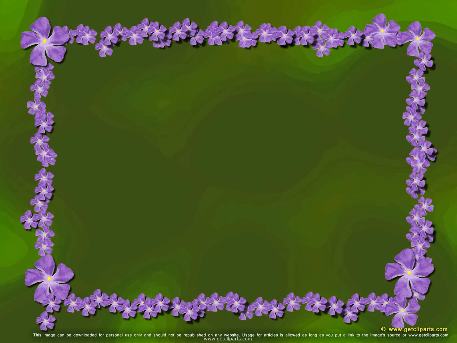 Free Desktop Wallpaper Purple Flowers Border On Garden Theme