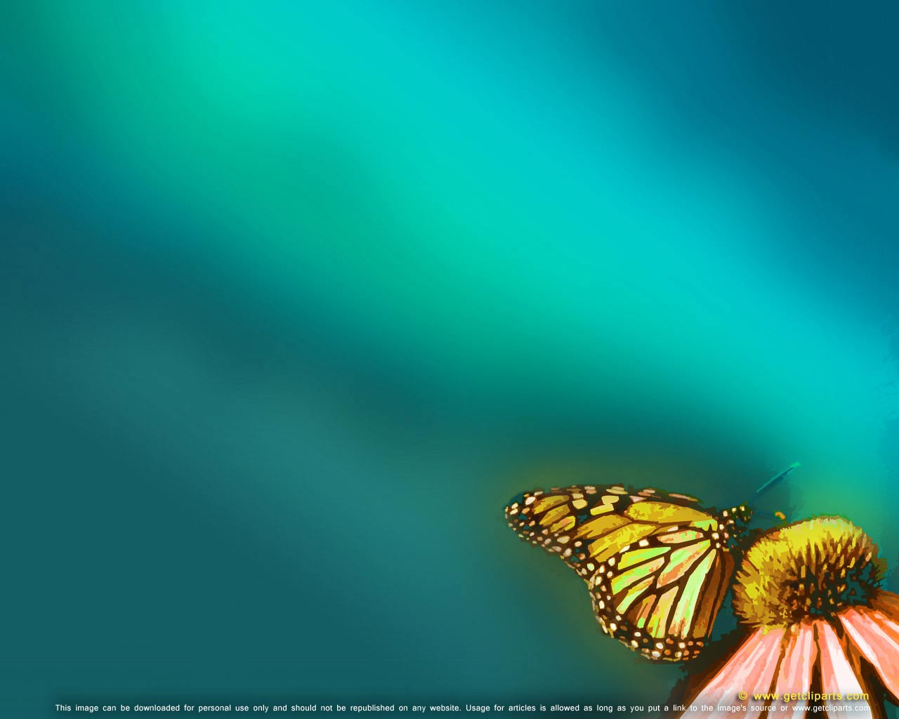 Butterfly – animal themes for powerpoint background. Download this