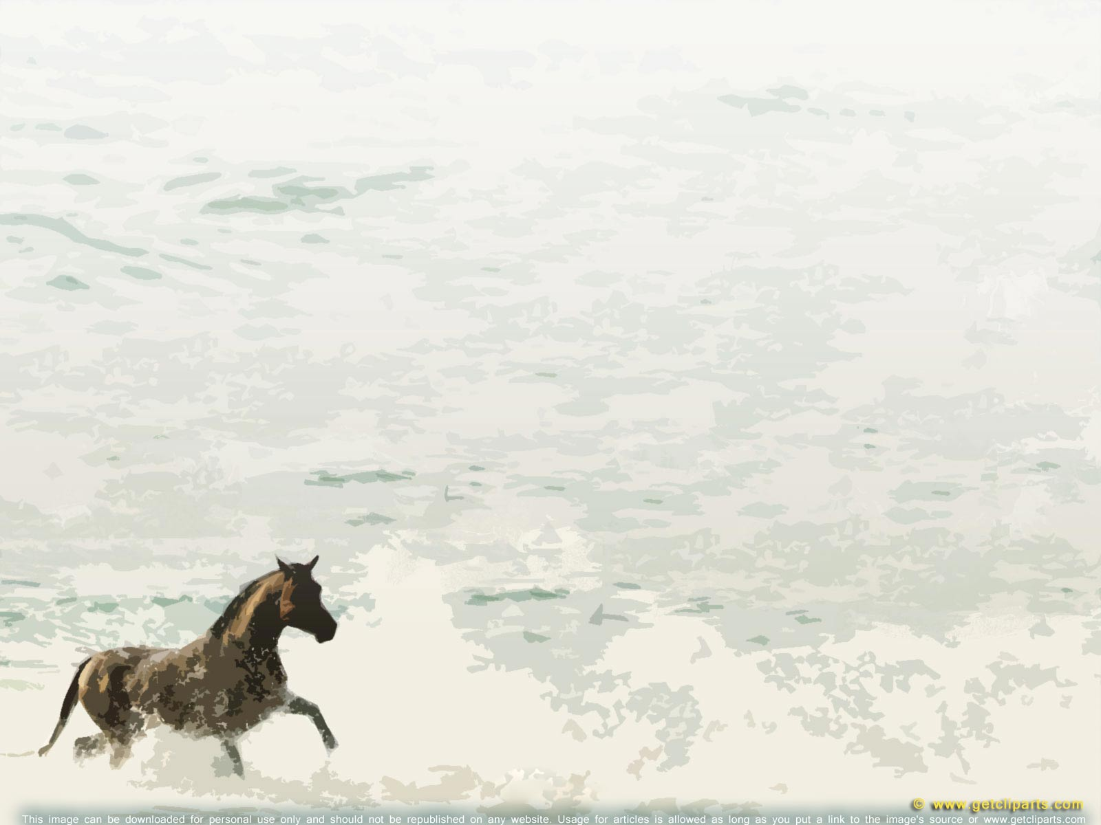 running horse on water getcliparts visual