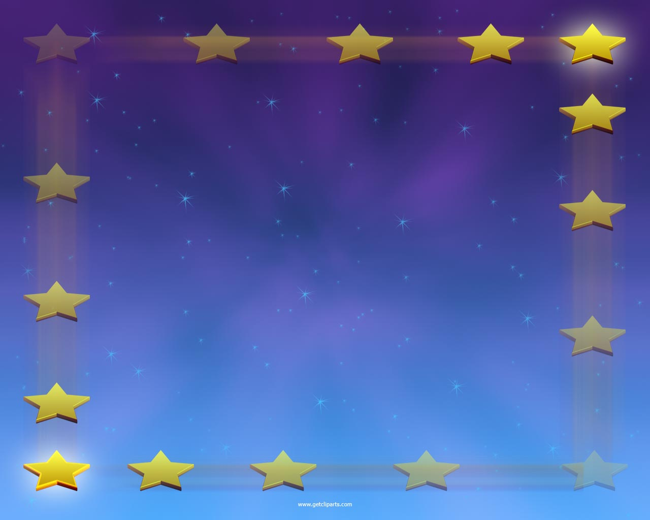 border frame in night blue background. The star powerpoint background ...
