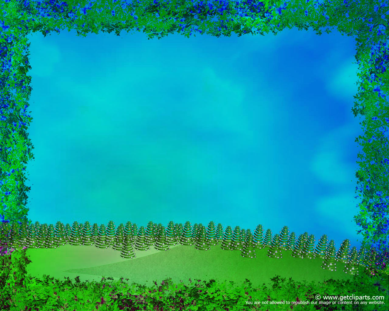 with trees and meadows for your powerpoint background collection